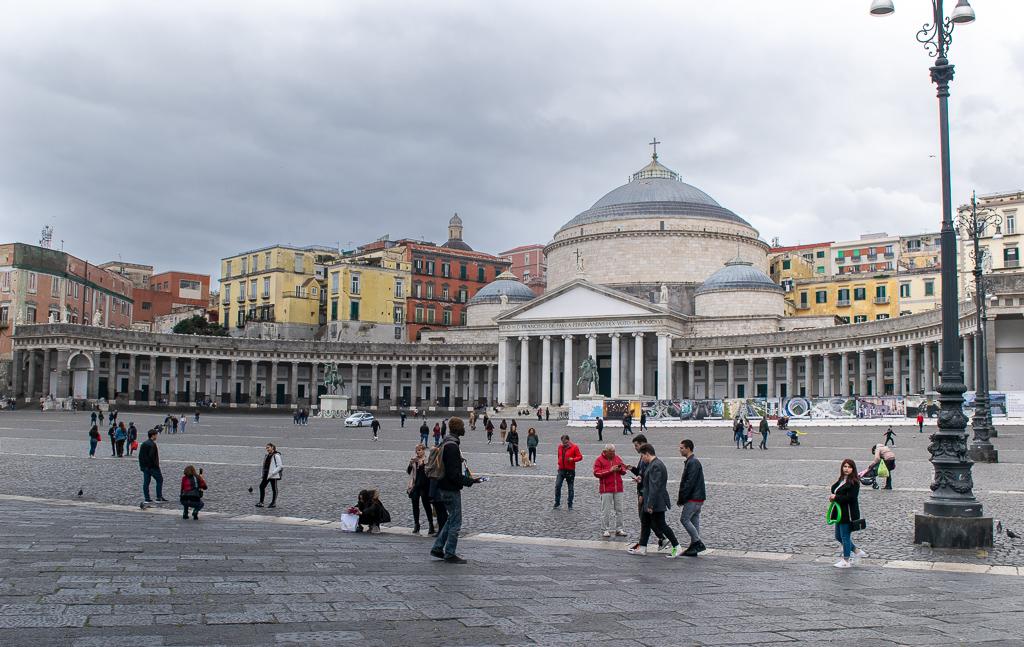 Piazza Plebiscito Neapol