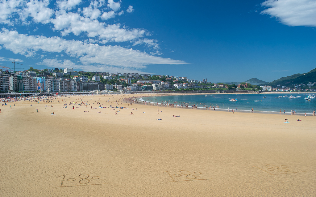 Plaża w San Sebastian