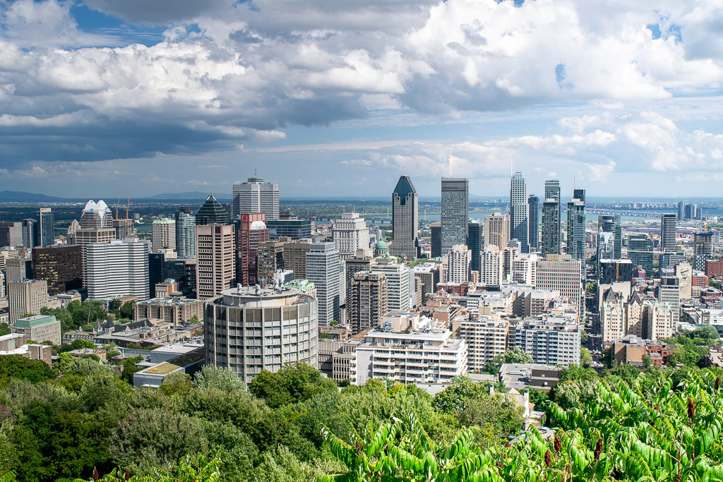 Widok na Montreal z Mount Royak